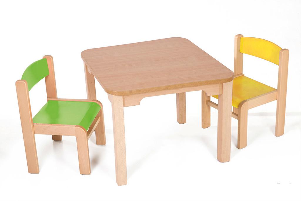 7a12f655454e dětský stolek MATY+LUCA zelená+žlutá